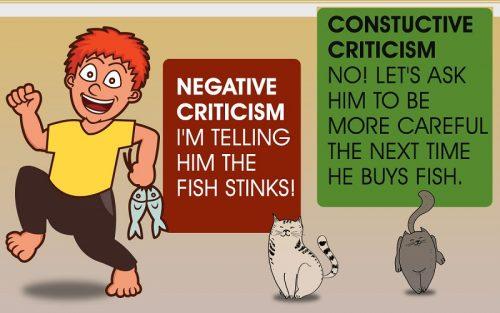 Constructive vs negative criticism